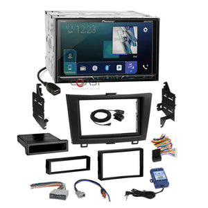 Pioneer DVD BT GPS Ready Stereo Dash Kit Steeing Harness for 2007-11 Honda CRV