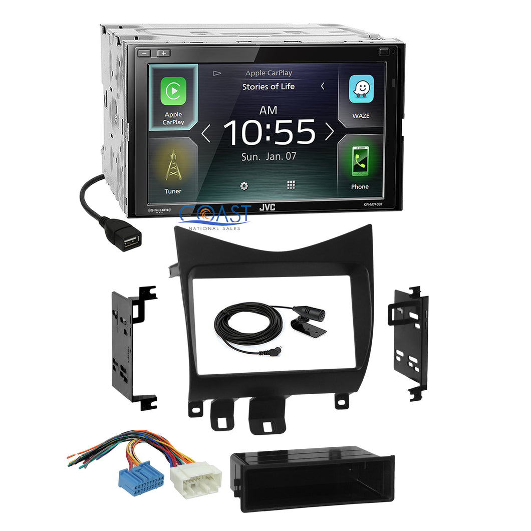 JVC Carplay Android Auto Bluetooth Stereo Dash Kit Harness 2003-07 Honda Accord