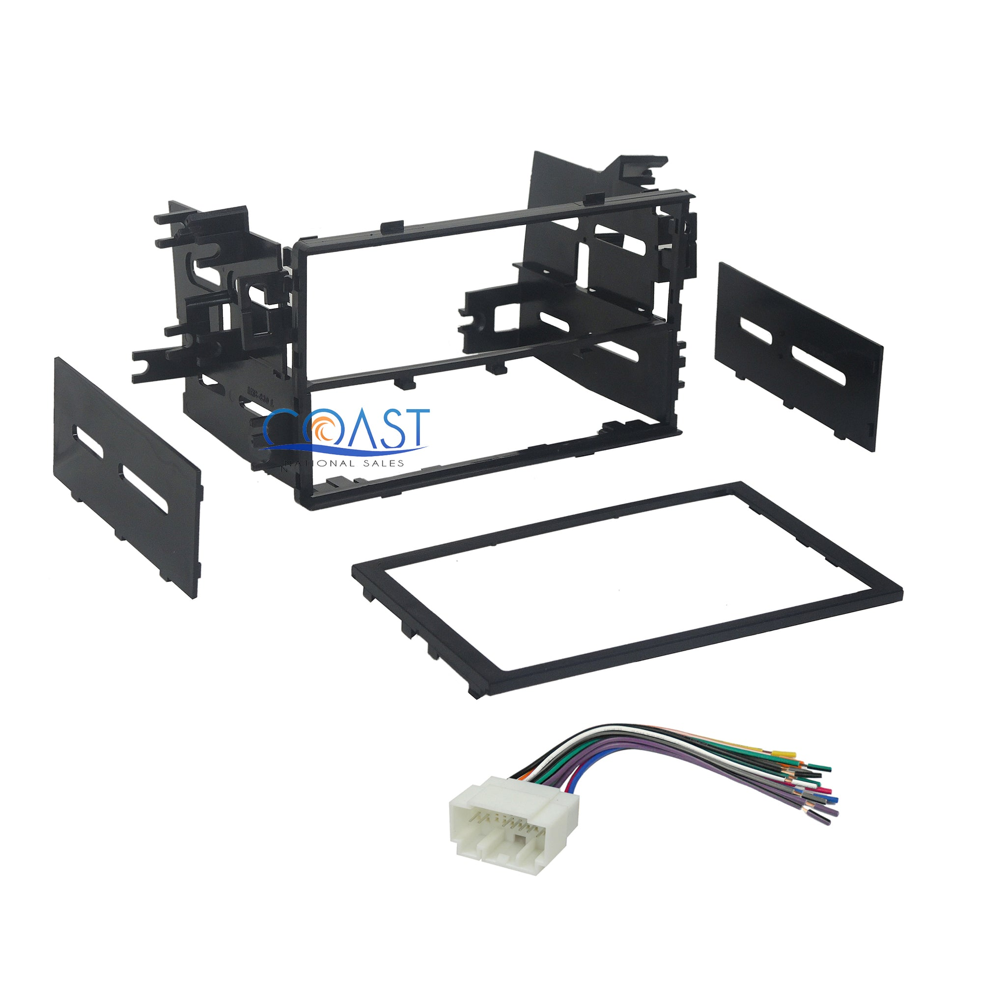 Car Radio Stereo Double Din Dash Kit Bezel Wire Harness