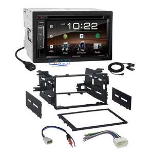 Kenwood DVD Sirius Bluetooth Stereo 2Din Dash Kit Harness for 1998-up Honda