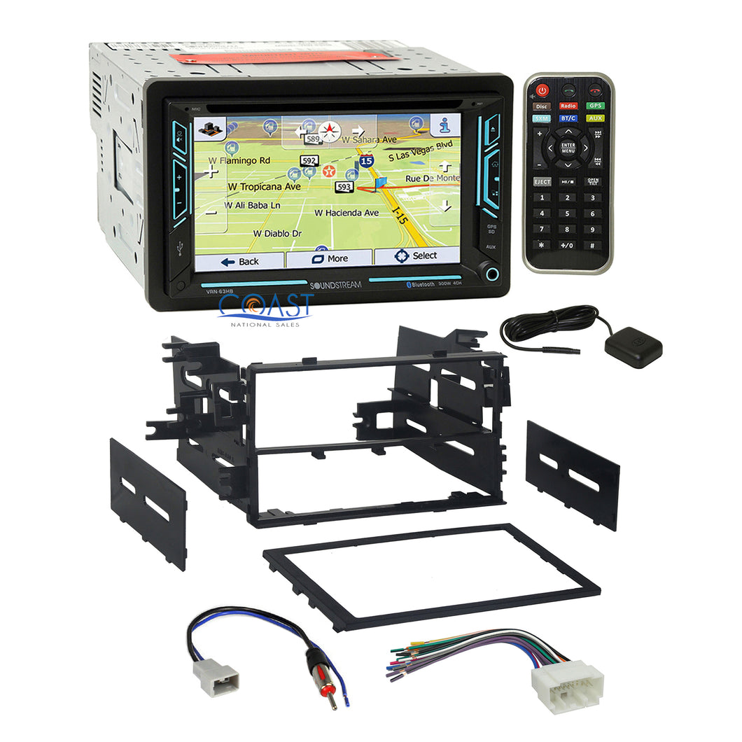 Soundstream DVD GPS Bluetooth Stereo Dash Kit Wire Harness for 1998-up Honda