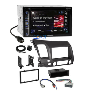 Pioneer 2016 Car Radio Stereo Dash Kit Wire Harness for 2006-2011 Honda Civic