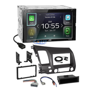 JVC Carplay Android Auto Bluetooth Stereo Dash Kit Harness for 06+ Honda Civic