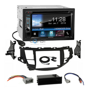 Kenwood Sirius Waze Weblink Stereo Dash Kit Harness for Honda Accord Crosstour