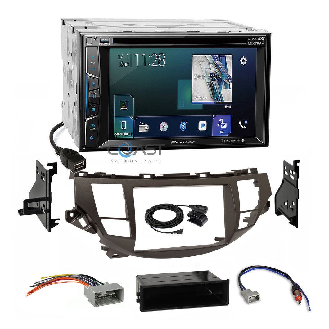 Pioneer Sirius AppRadio Radio Taupe Dash Kit Harness for Honda Accord Crosstour