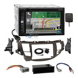 Pioneer DVD GPS Carplay Radio Taupe Dash Kit Harness for Honda Accord Crosstour