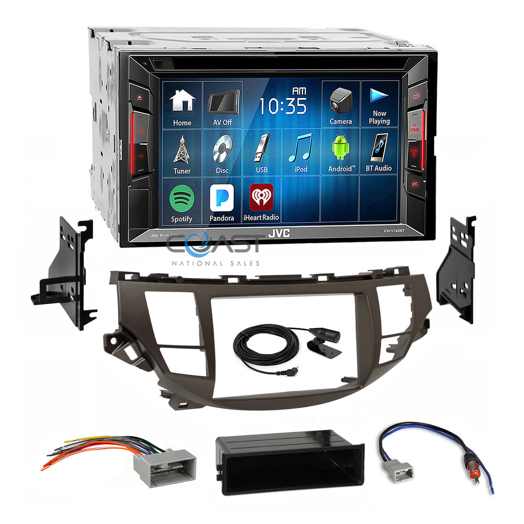 JVC DVD Bluetooth Stereo Taupe Dash Kit Harness for Honda Accord Crosstour NAV