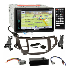 Soundstream DVD GPS Stereo Taupe Dash Kit Harness for Honda Accord Crosstour