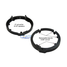 "Load image into Gallery viewer, 2X Door Aftermarket Speaker Adapter Plate 6.5"" or 6.75"" for Select Honda Acura"
