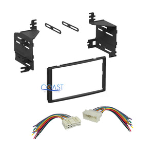 Single Double DIN Car Stereo Dash Kit + Harness Combo for 2005-2011 Hyundai Kia