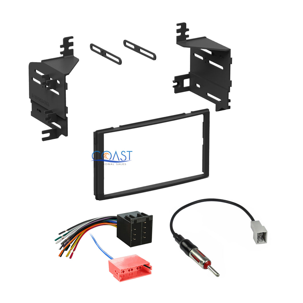 Single Double DIN Stereo Dash Kit Harness + Antenna for 2010-2011 Hyundai Kia