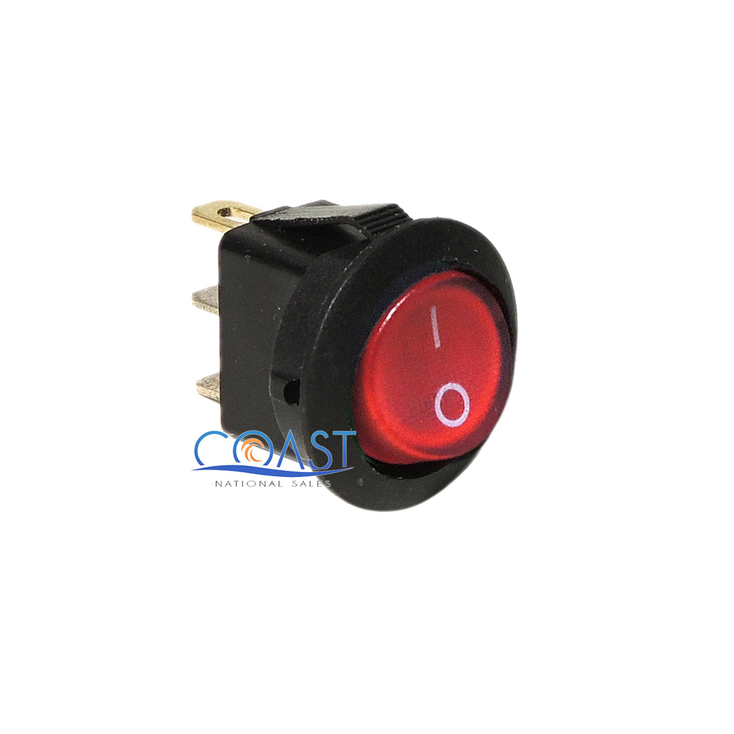 Car Auto Boat 12V 15A On/Off Round Red SPST Rocker Toggle Switches
