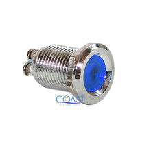 Load image into Gallery viewer, Durable 12mm Pilot Dash Light Lamp Metal Blue Led Indicator w/ Screw Terminal