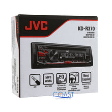 "Load image into Gallery viewer, JVC Car Stereo Receiver KD-R370 + Pair of CS-J620 6.5"" Audio Speaker Combo"