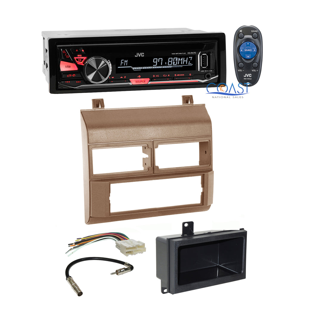 JVC Car Stereo Radio Beige Dash Kit Pocket Harness for 1988-94 Chevy GMC Truck