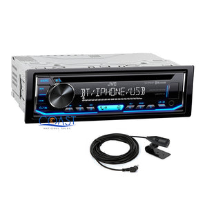 JVC Bluetooth Car Stereo Spotify MP3 Aux USB Removable Faceplate Media Receiver