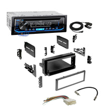 Load image into Gallery viewer, JVC Car Radio Single Din Bluetooth Dash Kit Harness For 82+ GMC Saturn Cadillac