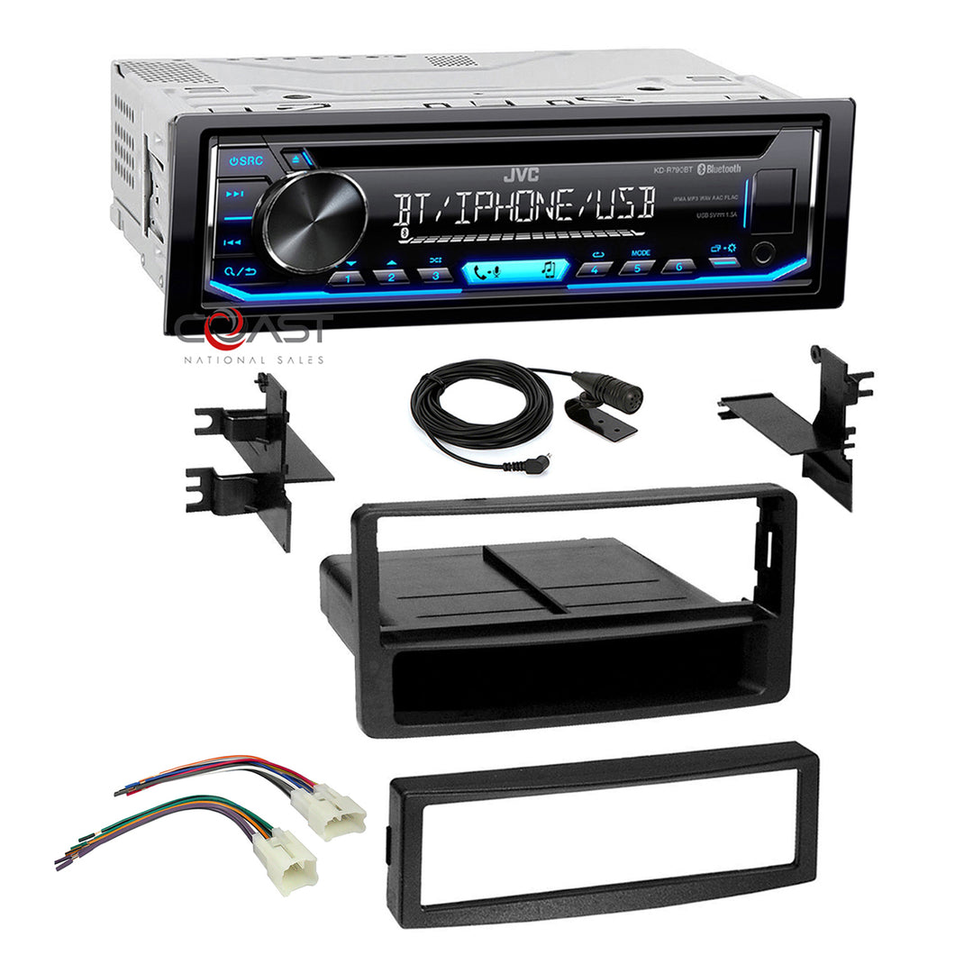 JVC Radio Single Din Bluetooth Dash Kit Harness For 03-07 Toyota Tundra Sequoia