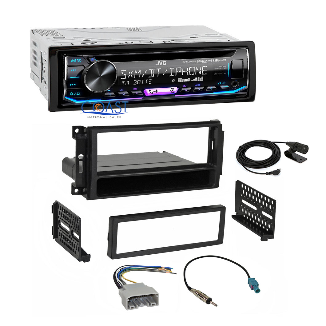 JVC Stereo SiriusXM Bluetooth Dash Kit Harness For 2007+ Chrysler Dodge Jeep VW