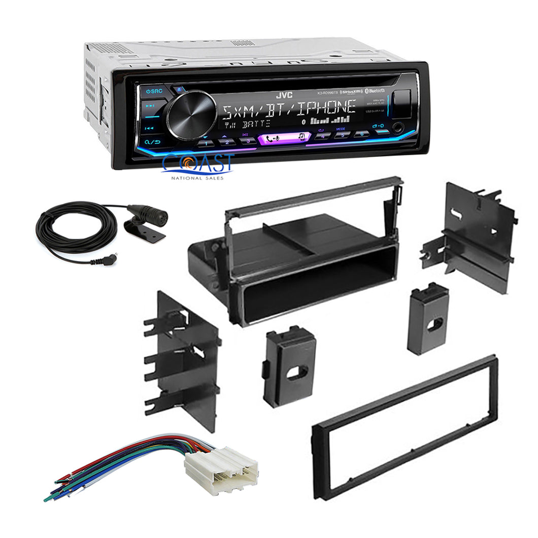 JVC Car Radio SiriusXM Bluetooth 1 Din Dash Kit Harness For 1995-06 Mitsubishi
