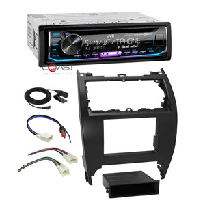 JVC Car Stereo SiriusXM Bluetooth 2 Din Dash Kit Harness For 12-14 Toyota Camry