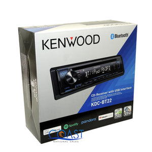 "Kenwood Car USB Bluetooth Radio Stereo w/ Four 6.5"" 300W Audio Speakers Combo"