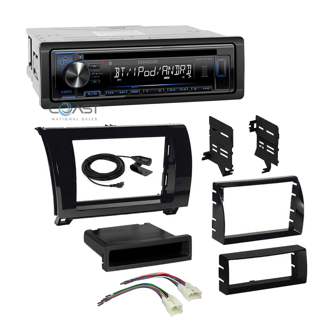 Kenwood Stereo Bluetooth 2 Din Dash Kit Harness For 07-13 Toyota Tundra Sequoia