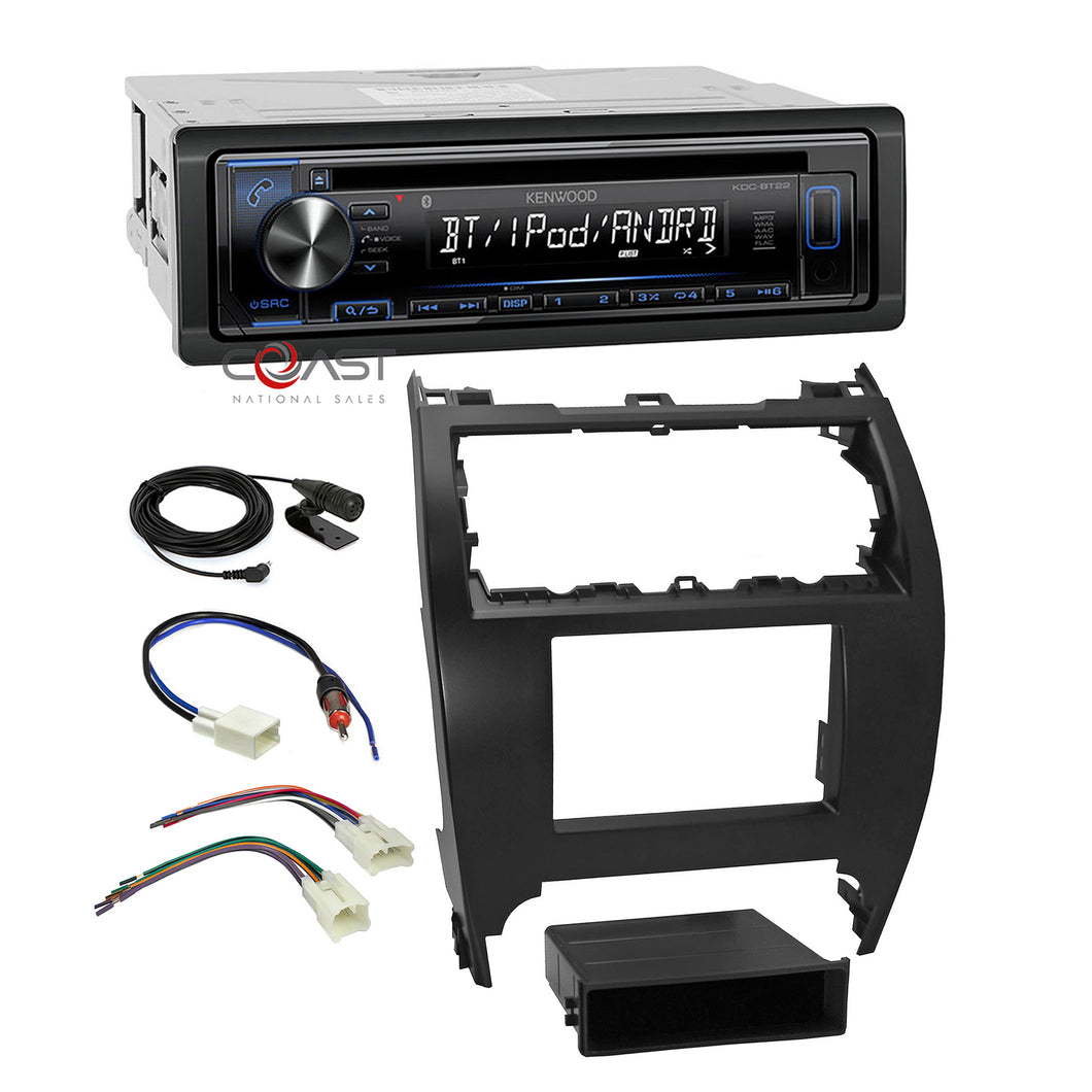 Kenwood Stereo Bluetooth Double Din Dash Kit Harness For 2012-14 Toyota Camry