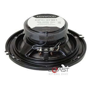 "2X Kenwood 6.5"" 320W Max 2-Way Flush Mount Coaxial Car Speaker Systems KFC-D161"