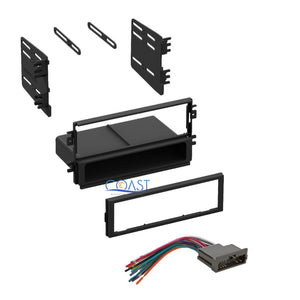 Car Stereo Radio Single Din Dash Kit  W/ Wire Harness for 1998-2003 Kia
