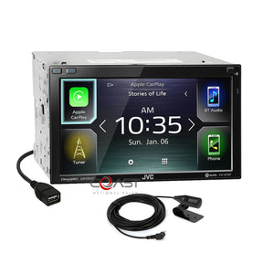 JVC BT Sirius Carplay Android Stereo Blk Dash Kit Harness for 08+ Honda Accord