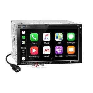 JVC DVD USB BT Android Sirius Carplay Stereo Dash Kit Harness for 06-10 Mazda 5