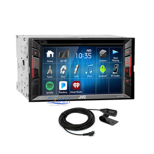 JVC DVD Bluetooth Stereo 2Din Dash Kit Bose Harness for 07+ Cadillac Escalade