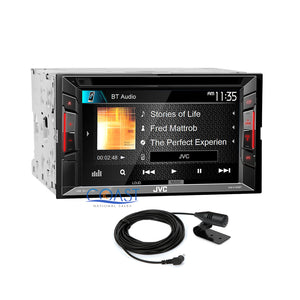 JVC DVD USB Bluetooth Stereo 2Din Gloss Gray Dash Kit Harness for Nissan Altima