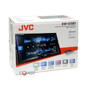 JVC DVD BT USB Spotify Sirius Stereo Dash Kit Harness for 2013-17 Honda Accord