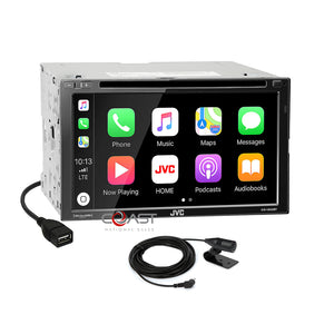 JVC DVD USB Carplay Sirius Stereo Dash Kit JBL Harness for 09-11 Toyota Corolla
