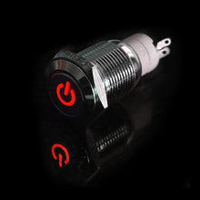 Load image into Gallery viewer, 4X Car Home Heavy Duty 16mm 12V Red LED Stainless Steel Toggle Power Switch