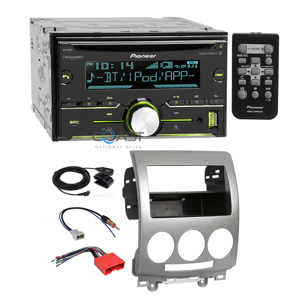 Pioneer CD MP3 USB Sirius Bluetooth Stereo Dash Kit Harness for 2006-10 Mazda 5