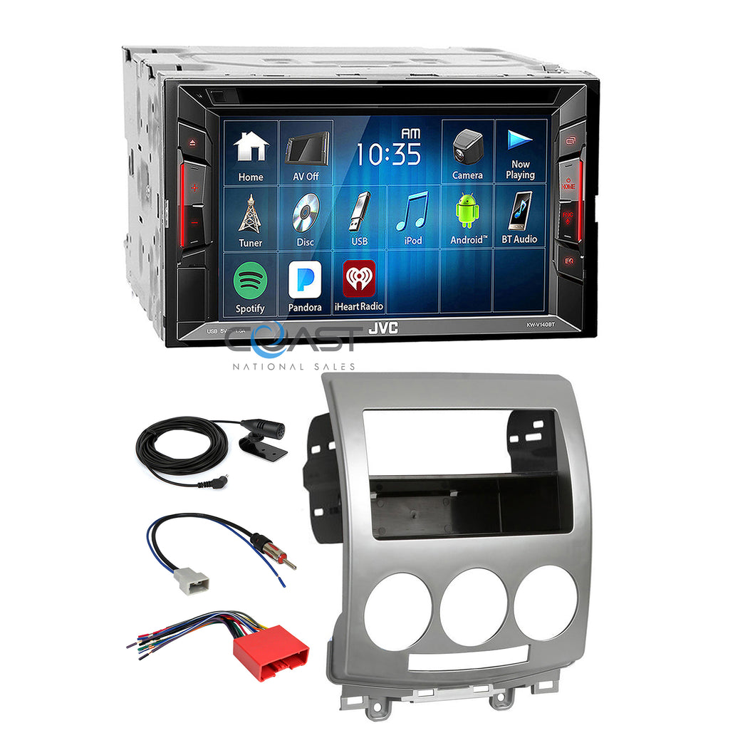 JVC 2018 DVD USB Spotify Bluetooth Stereo Dash Kit Harness for 2006-10 Mazda 5