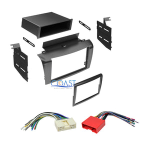 Single Double DIN Car Stereo Dash Kit + Harness Combo for 2004-2009 Mazda 3 All