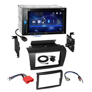 Pioneer 2018 DVD Bluetooth 2 Din Stereo Dash Kit Harness for 2004-2009 Mazda 3