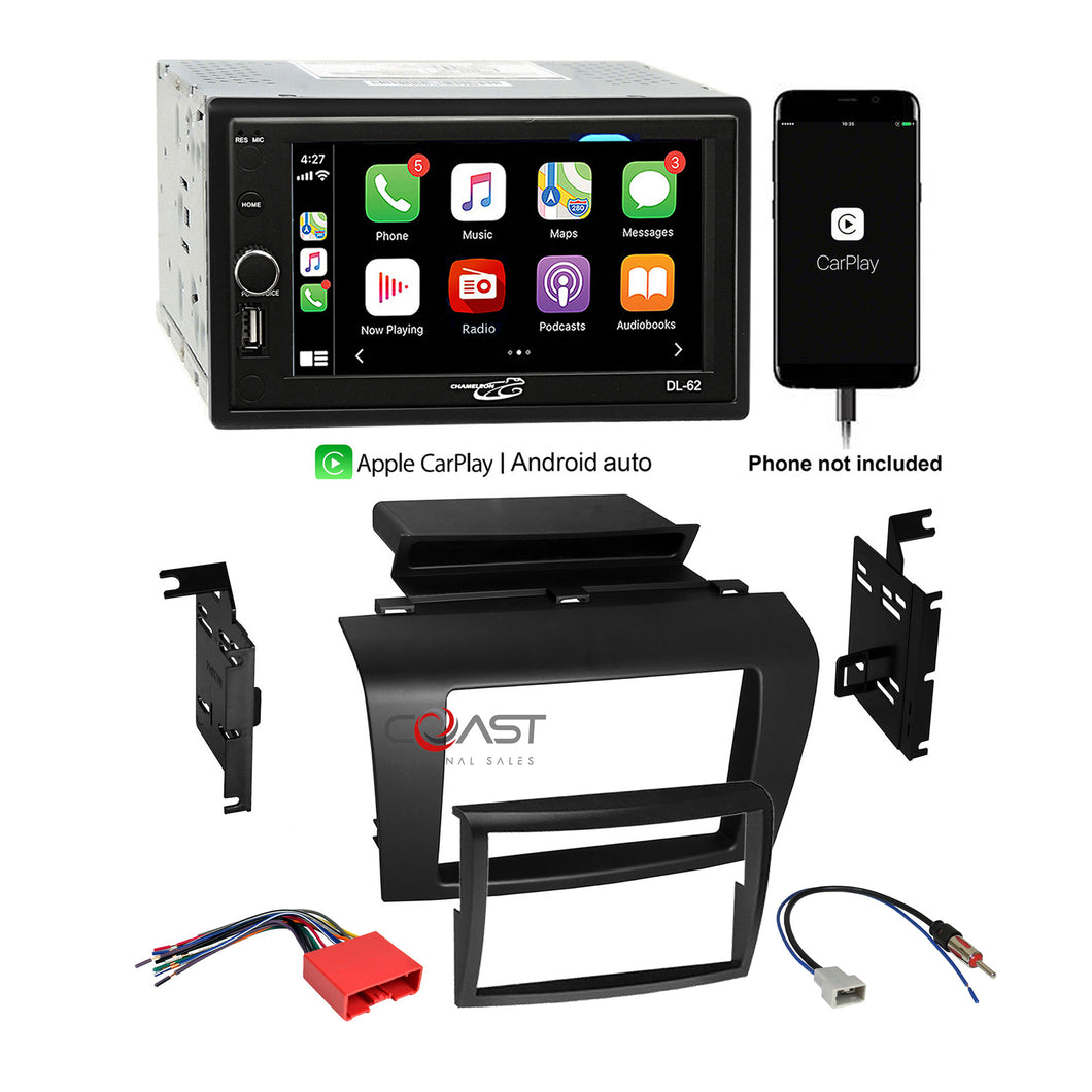 Concept USB Bluetooth Carplay Stereo Dash Kit Wire Harness for 2004-09 Mazda 3