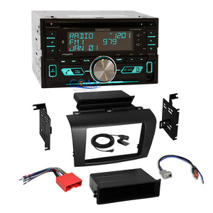 Kenwood USB Sirius Bluetooth 2Din Stereo Dash Kit Harness for 2004-2009 Mazda 3