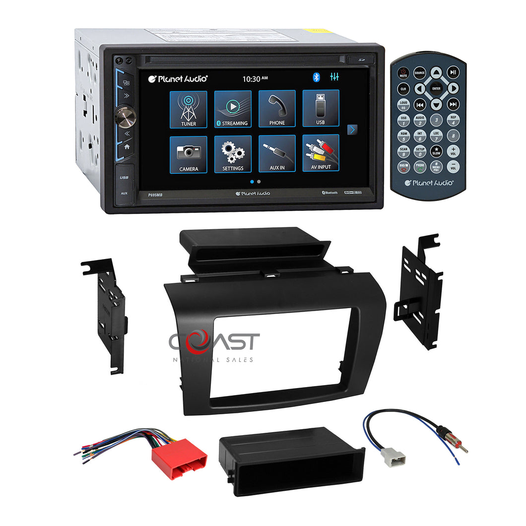 Planet Audio USB Touchscreen Bluetooth Stereo Dash Kit Harness for 04+ Mazda 3