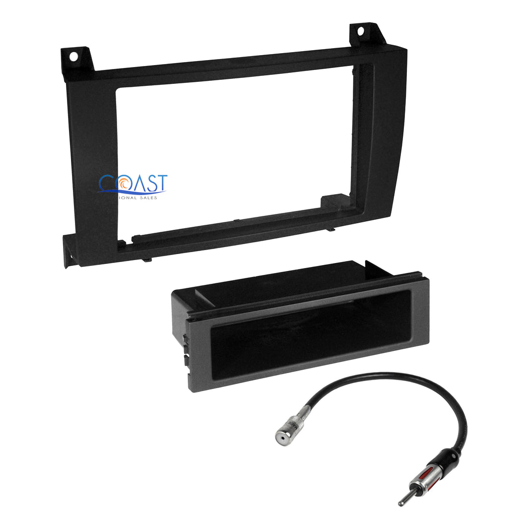 Car Radio Stereo Single Double DIN Dash Kit Antenna for 2005-2011 Mercedes SLK
