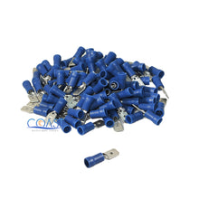 Load image into Gallery viewer, Car Home Blue Male & Female Quick Disconnector Terminal 16-14 Gauge - 200pcs