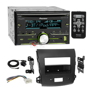Pioneer CD Sirius Bluetooth 2Din Dash Kit Harness for 07+ Mitsubishi Outlander