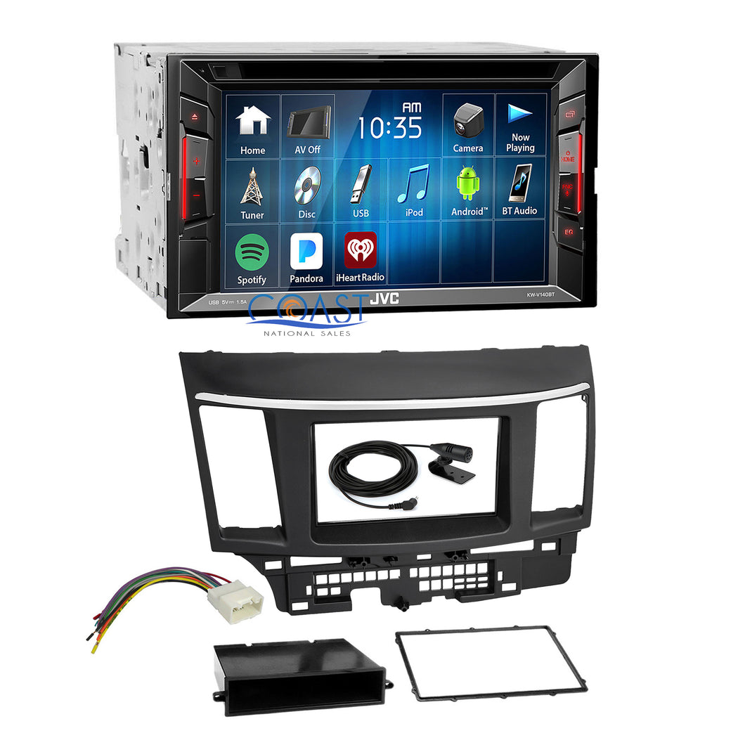 JVC DVD USB Bluetooth Stereo Dash Kit Harness for 2007-2013 Mitsubishi Lancer