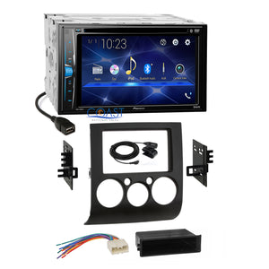 Pioneer 2018 DVD Bluetooth Stereo Dash Kit Harness for 2004+ Mitsubishi Galant
