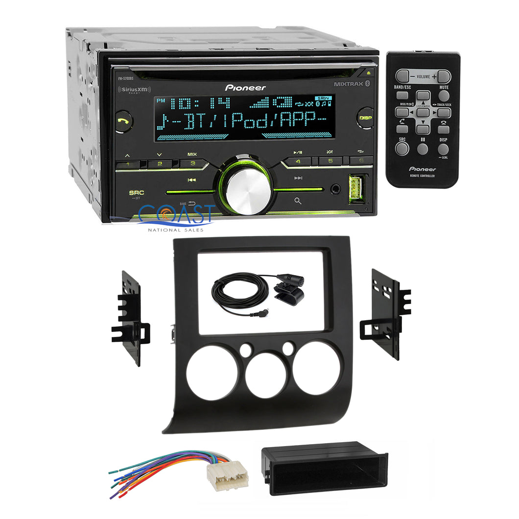 Pioneer CD Sirius Bluetooth Stereo Dash Kit Harness for 04-12 Mitsubishi Galant